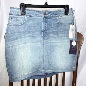 NYDJ Denim Straight Jean Skirt, Orig Slimming Fit